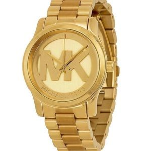 Gold MK Monogram Logo Watch